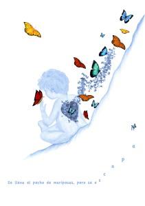 Corazón lleno de mariposas día